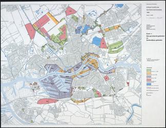 1983-4679 Kaart van Rotterdam en omgeving met aanduiding van niet-gerioleerde gebieden en buitendijkse gebieden