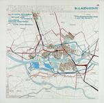 1983-64 Kaart van Rotterdam en omgeving met aanduiding van bestaande en ontworpen spoorwegen, de bestaande en ...