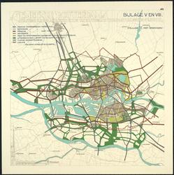 1983-65 Kaart van Rotterdam en omgeving met aanduiding van verkeerswegen en van de bestaande en voorgestelde gemeentegrens