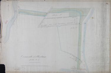 1984-1360-4 Kadastrale kaart van het gebied tussen de Rotte en de Boezem waarop het ontwerp voor de Crooswijksesingel ...