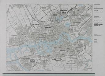 1984-521 Kaart van Rotterdam en omgeving met aanduiding van polder- en waterschapsbeheer binnen de gemeente Rotterdam