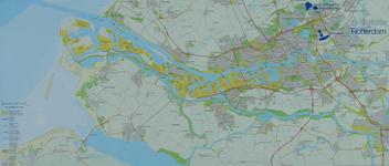 1984-529 Plattegrond van Rotterdam en het Europoortgebied met daarop aangegeven de mogelijke locaties van een in ...