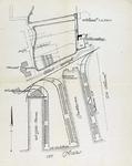 1985-1001 Plattegrond het voormalige landgoed Schooneberg nabij de Parkhaven (met een drijvende politiepost) en de ...