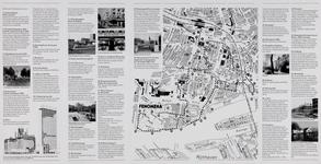 1985-1070-2 Plattegrond van de binnenstad van Rotterdam met een wandelroute