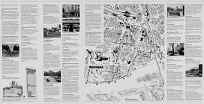 1985-1070-4 Plattegrond van de binnenstad van Rotterdam met een wandelroute