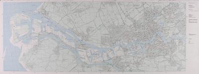 1985-19 Kaart van Rotterdam en het Europoortgebied met daarop een overzicht van de peilmerken en de ondergrondse merken