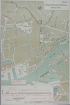 1985-340 Kaart van het middendeel van Rotterdam met een plan voor een nieuwe brug aan de westzijde van het Noordereiland