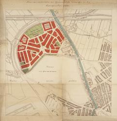 1985-990 Plattegrond van het stratenplan van Spangen