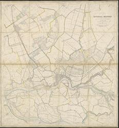 1986-1918 Kaart van Rotterdam en omstreken. Het afgebeelde gebied omvat onder meer Rijswijk, Delft, Kethel, ...
