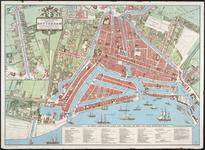 1989-4 Reconstructie van de plattegrond van Rotterdam omstreeks 1850. Historisch gegevens door Joh. de Vries. Uitgave: ...