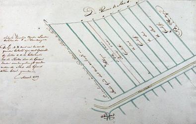 1990-50 Schetskaart van landerijen ten zuiden van de Oude Plantage