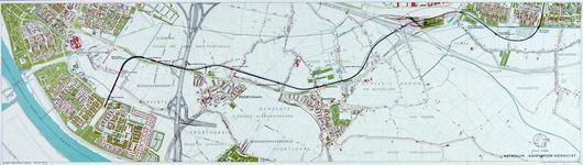 1991-3378-1 Kaart van de metrolijn van Pendrecht naar Hoogvliet langs de Groene Kruisweg