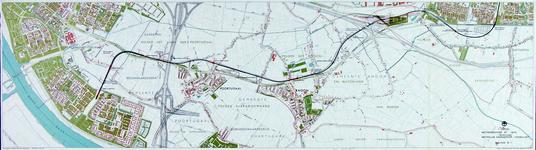 1991-3378-2 Kaart van de metrolijn van Pendrecht naar Hoogvliet langs de Groene Kruisweg