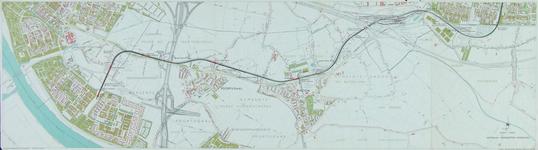 1991-3379-1 Kaart van de metrolijn van Pendrecht naar Hoogvliet langs de Groene Kruisweg