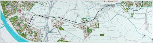 1991-3379-2 Kaart van de metrolijn van Pendrecht naar Hoogvliet langs de Groene Kruisweg