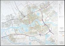 1991-549 Plattegrond van Rotterdam met aanduiding van het net van hoofdwegen, verzamelwegen en overige wegen en de ...