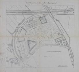 1992-3026 Plattegrond van het stratenplan van Spangen