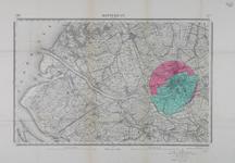 1992-3029 Topografische kaart van Nederland, schaal 1:50.000, blad 37: Rotterdam en omgeving. Met aanduiding van twee ...