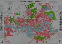 1992-387 Plattegrond van Rotterdam en omgeving