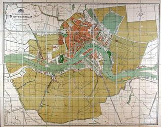 1993-1651 Plattegrond van de gemeente Rotterdam.