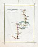 1995-561 Routekaartje van de lijn Rotterdam-Numansdorp van de Rotterdamsche Tramweg-Maatschappij