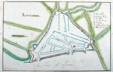 1995-804 Plattegrond van Rotterdam