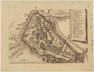 1996-2583 Plattegrond van Rotterdam anno 1488 [reconstructie]