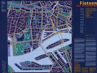 1997-774 Plattegrond van het centrum van Rotterdam bestemd voor fietsers