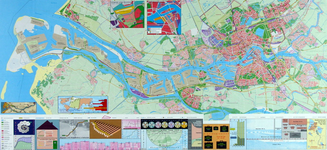 1999-358 Kaart van Rotterdam en omgeving. Verso: kaart van het middendeel van Rotterdam. Inzetkaartjes: Integraal Plan ...
