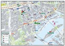 1999-546 Kaartje van het centrum van Rotterdam
