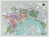 2000-1109 Kaart van de binnenstad van Rotterdam met daarop de bestemmingen op de begane grond