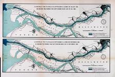 2000-1112 De Nieuwe Waterweg van Rotterdam naar de Noordzee in juli 1882 en in november 1889