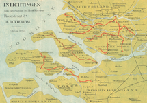 2000-56 Kaart van Zuid-Hollandse en Zeeuwse eilanden en het westelijke deel van Noord-Brabant met het lijnennet van de ...