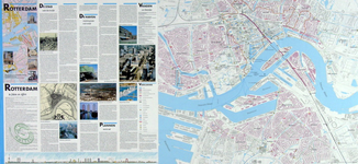 2001-12 Kaart van Rotterdam en omgeving. Verso: kaart van het middendeel van Rotterdam. Inzetkaartjes: Integraal Plan ...
