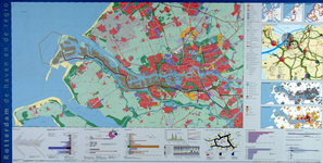 2001-3 Kaart van Rotterdam en de regio en het middendeel van Rotterdam (verso). Diverse deelkaarten
