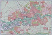 2001-66 Kaart van Rotterdam, Schiedam en Vlaardingen met woongebieden, industriegebieden en bouwlocaties