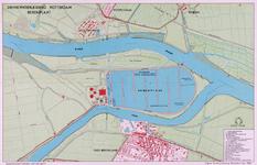 2001-706 Kaart van de spaarbekkens op Berenplaat van de Drinkwaterleiding Rotterdam