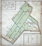 2004-636 Kaart van landerijen in de Blijdorpse polder ten westen van de Rotterdamse Schie en ten noorden van de ...