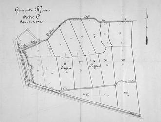 2004-637 Kaart van de Zegenpolder in de gemeente Rhoon