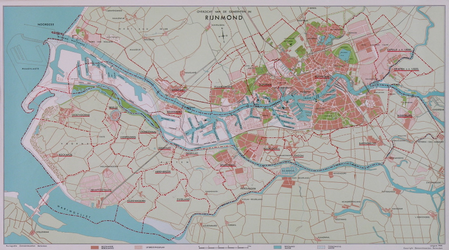2005-1377 Kaart van het Rijnmondgebied met aanduiding van de gemeentegrenzen.