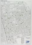 2005-1621 Plattegrond van Oosterflank met aanduiding van de locaties voor ondergrondse en bovengrondse afvalcontainers ...