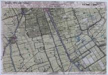 2005-1622 Kaart van Delft en omgeving geprojecteerd op een topografisch kaart uit 1889