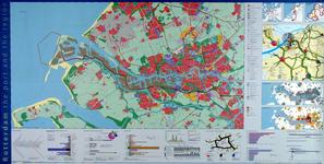 2005-2347 Kaart van Rotterdam en de regio en het middendeel van Rotterdam (verso). Diverse deelkaarten