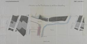 2005-705 Plattegrond van het Beursplein en omgeving vervaardigd in verband met de aanleg van de spoorlijn Dordrecht-Rotterdam