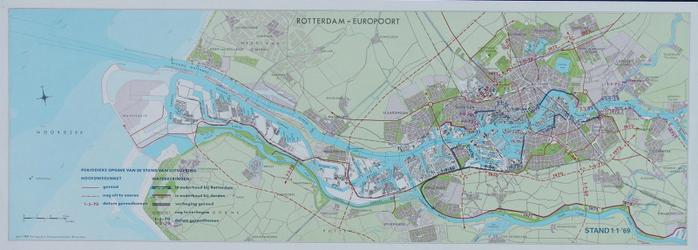 2007-995 Kaart van Rotterdam en omgeving waarop de uitvoering van de hoofdwegennet en de waterkeringen per 1 januari ...