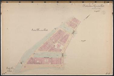 40110-Z11 Kadastrale kaart van Rotterdam, sectie H, in een blad: tussen Leuvehaven en Glashaven. Het gebied wordt ...