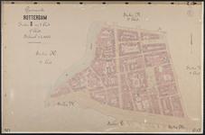 40110-Z13 Kadastrale kaart van Roterdam, sectie D, in 1 blad: rond de Jonker Fransstraat, de Warmoeziersstraat en het ...