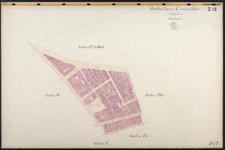40110-Z15 Kadastrale kaart van Rotterdam, sectie L: rondom de Nieuwemarkt. Het gebied wordt begrensd door de ...