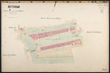 40110-Z18 Kadastrale kaart van Rotterdam, sectie F, in blad: rond Nieuwehaven en Haringvliet. Het gebied wordt begrensd ...