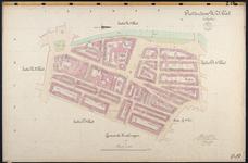 40110-Z19 Kadastrale kaart van Rotterdam, sectie U, 2e blad: rond de Slaak en het Vredenoordplein. Het gebied wordt ...